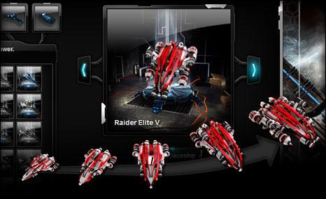Melhore sua nave espacial e prepare-a se você quer ser o melhor raider!